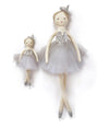 Nana Huchy Baby and Princess marshmallow dolls silver