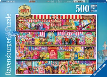 Ravensburger 500 piece puzzle The Sweet Shop, illustrated by Aimee Stewart