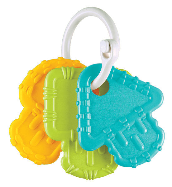 Re-Play Teething Keys Aqua, green and yellow