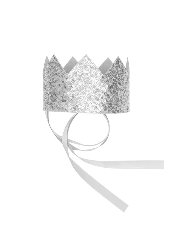 Billy Loves Audrey Silver Sequin Crown