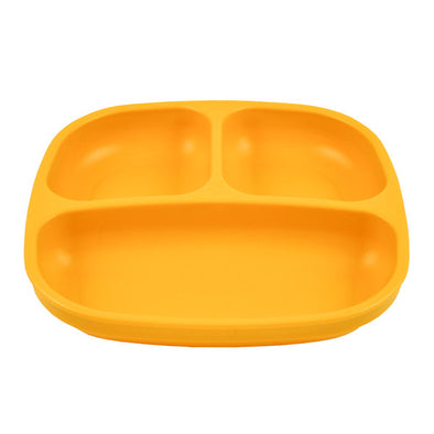 Re-Play Divided Plate Sunny Yellow