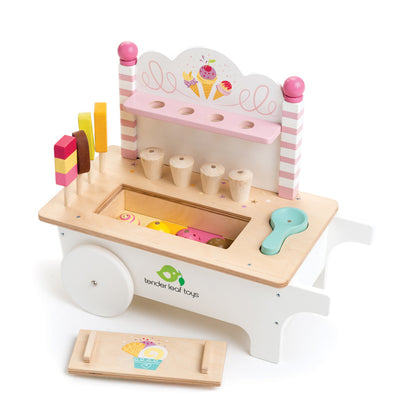Tender Leaf Toys Wooden icecream cart
