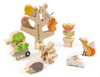 Tender Leaf Toys Stacking Garden Animals