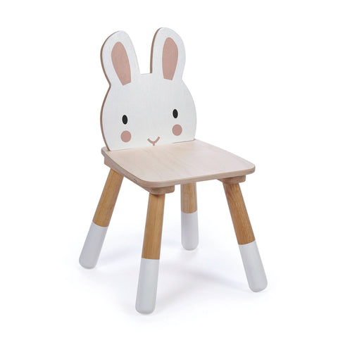 Wooden Chair for toddlers with a rabbit face backrest