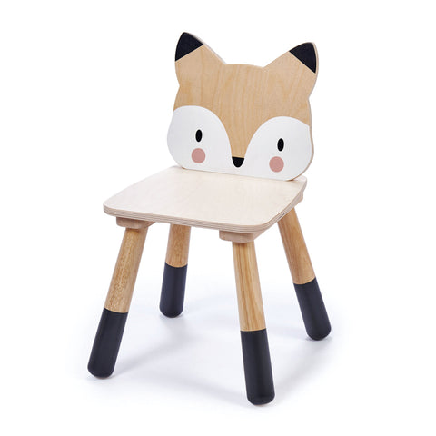 Toddlers wooden fox character chair