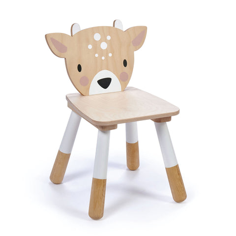 Wooden forest deer chair for a toddler