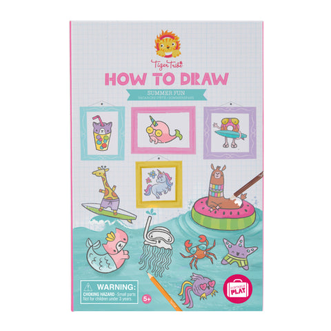 Tiger Tribe How to Draw Summer Fun Colouring Set