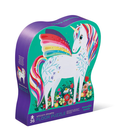Unicorn Gardens 36 piece floor puzzle