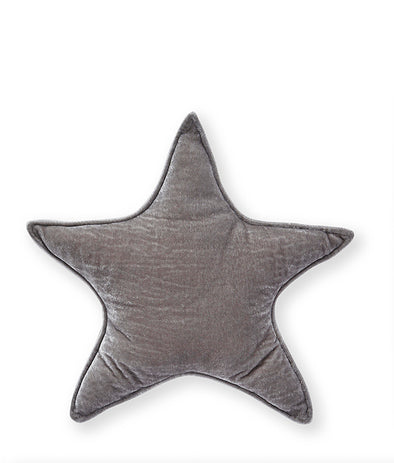 Nana Huchy Velvet Star Cushion Grey