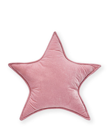 Nana Huchy Velvet Star Cushion Pink
