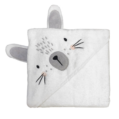 Mister Fly White Bunny Hooded Towel