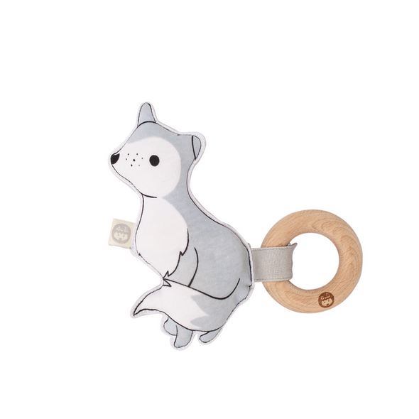 Wolfie Kiplet teething rattle