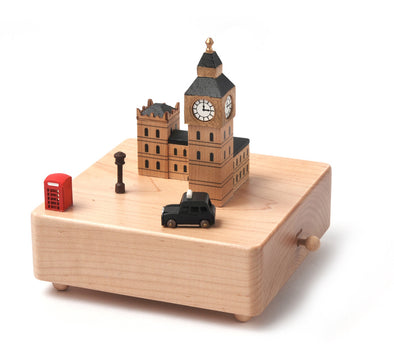Wooderful Life Keepsake Music Box featuring London highlights
