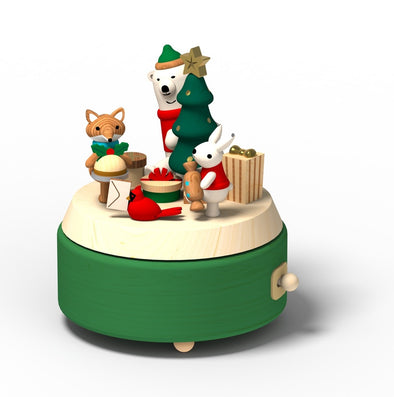 Wooderful Life Music Box Holiday Gift Exchange