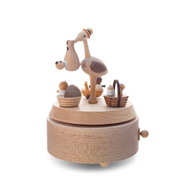 Wooderful Life Music Box Stork Delivery