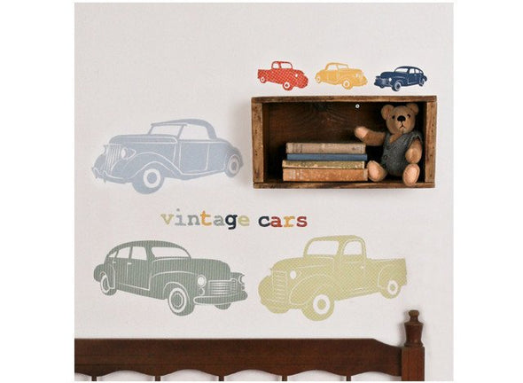Love Mae Fabric Wall Stickers Vintage Cars