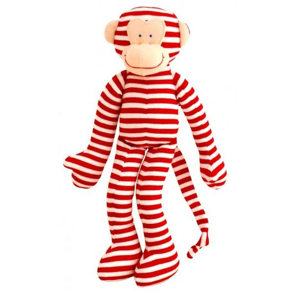 Alimrose Monkey Rattle Red