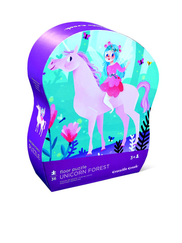 Crocodile Creek Floor Puzzle Unicorn Forest box