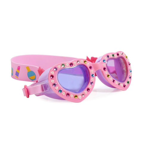 Bling2o Goggles Breakfast by the Pool Powder Puff Pink Heart