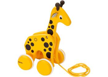 Brio pullalong giraffe toy