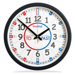 Easyread classroom clock 34cm with red/blue face