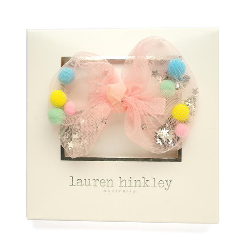 Lauren Hinkley Pink Confetti bow hair clip