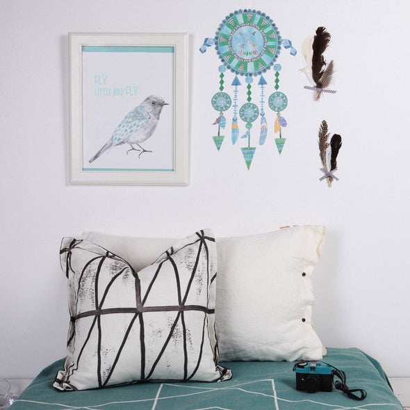 Love Mae Fabric Wall Stickers Dream Catcher Blue