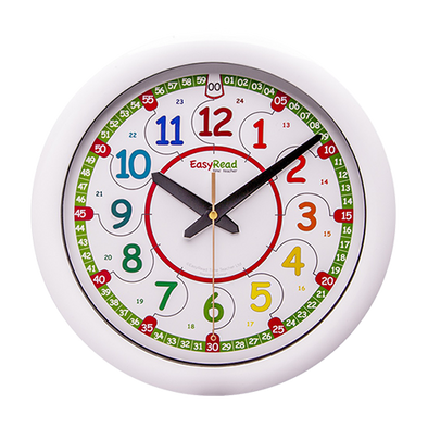 EasyRead Time Teacher Clock Rainbow 24hr Digital 29cm