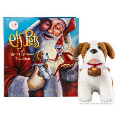 Elf on the Shelf St bernard