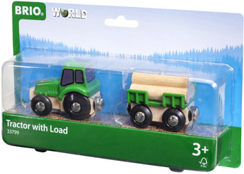 Brio farm tractor with load