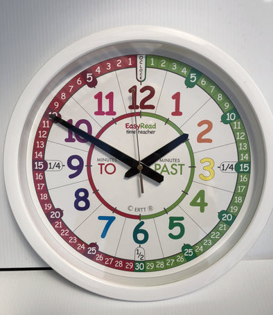 Easyread time Teacher classroom clock rainbow