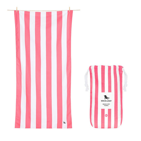 Dock & Bay Microfibre towels Kuta Pink