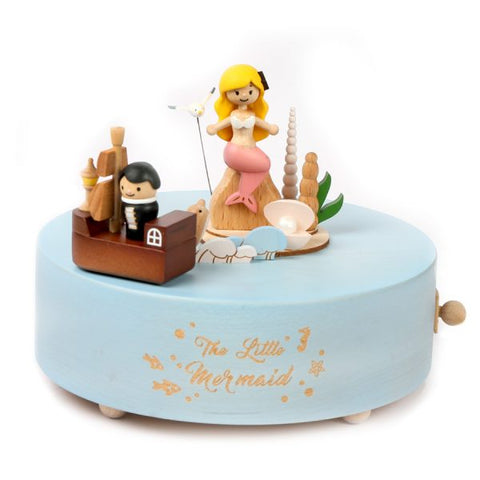 Wooderful Life Wooden music box The Little Mermaid