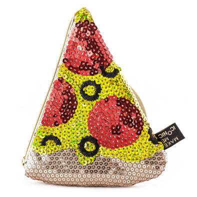Iconic Pizza Sequin Purse