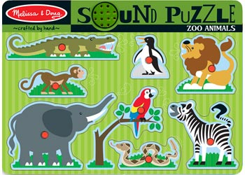 Melissa & Doug Zoo Animals Sound puzzle