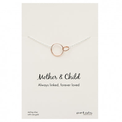 Petals Mother and Child Necklace Rose Gold