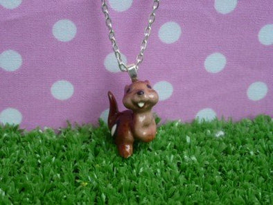 Meow Girl Chipmunk Necklace