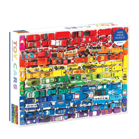 Galison Rainbow toy cars 1000 piece puzzle