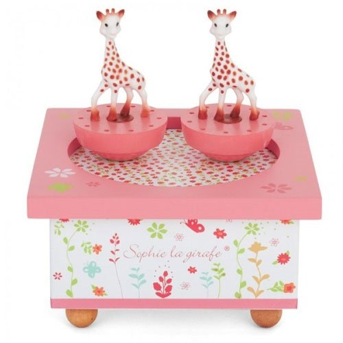 Sophie the Giraffe Spinning Music Box Pink