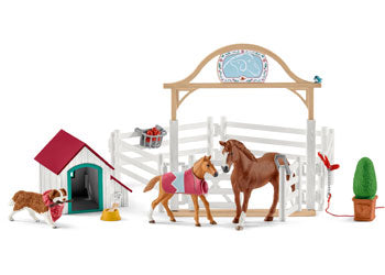 Schleich Hannah's Guest Horses and Dog