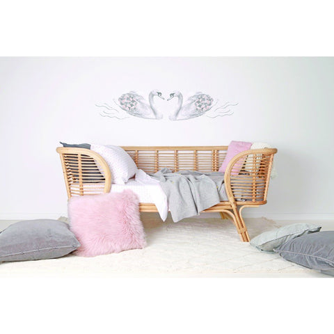 Love Mae Fabric Wall Stickers Swans