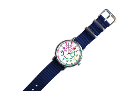 EasyRead Time Teacher Watch Rainbow (Navy Strap)
