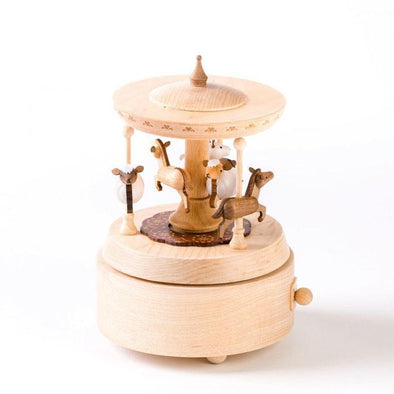 Wooderful Life Wooden Music Box Merry Go Round