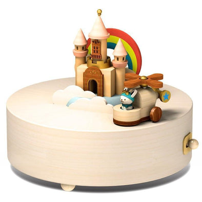 Wooderful Life Wooden Music Box Happy Clouds