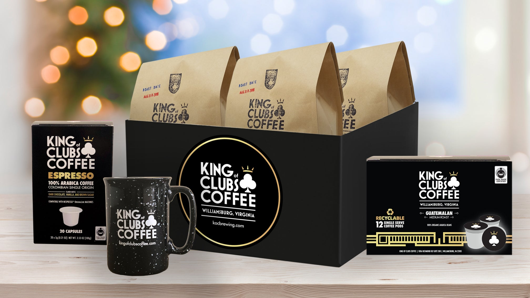 Holiday Gift Box: 3 Varieties + Mug