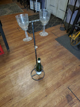 Patio Wine Stand holds glasses bottle and cork