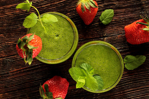 Green is the color of health. Matcha helps to safely cleanse and purge the body of harmful elements. Chlorophyll the element that gives green tea and other plants their signature verdant color is also a powerful detoxifier, helping to eliminate both chemi