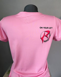 "Women's Short Sleeve Dry-Fit Shirt ""On Your Left"""