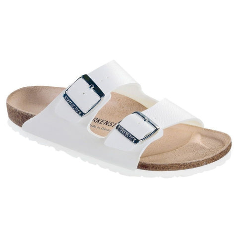 Arizona Narrow Fit White Birkenstocks