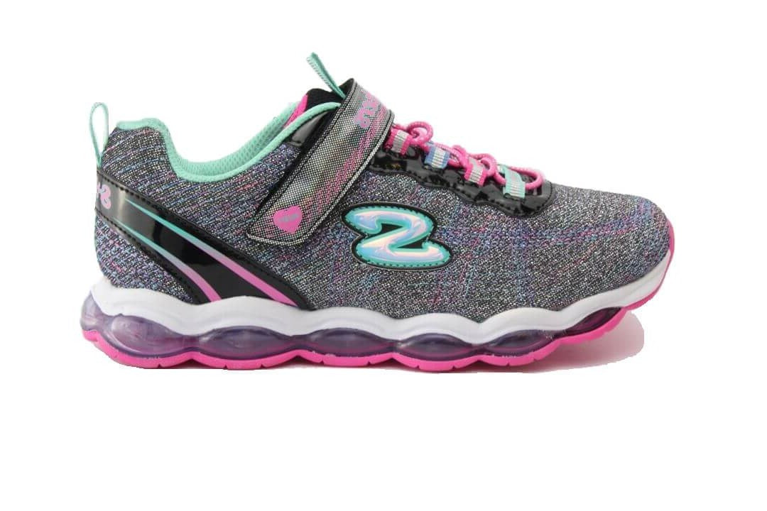 SKECHERS 10833L - BLACK MULTI KIDS SHOES